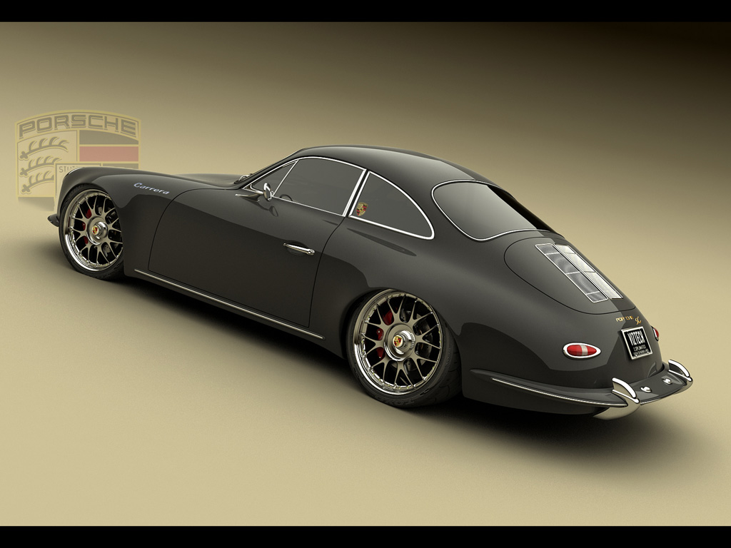 retro porsche rendering - Retro Car Design