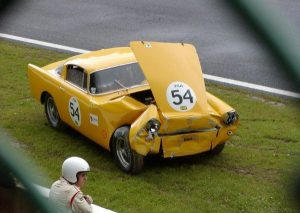 1959 Ferrari 250 GT TDF wrecked in a classic auto race