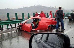 china car wreck - 14 ferraris and lamborghinis and more exotics