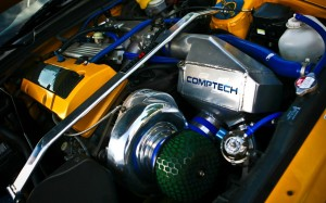 Spa Yellow Bonnet S2000 with Comptech Supercharger