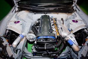 1310-Ken-Gushi-Greddy-Scion-FRS-Debut-2JZ-Engine-Bay-15