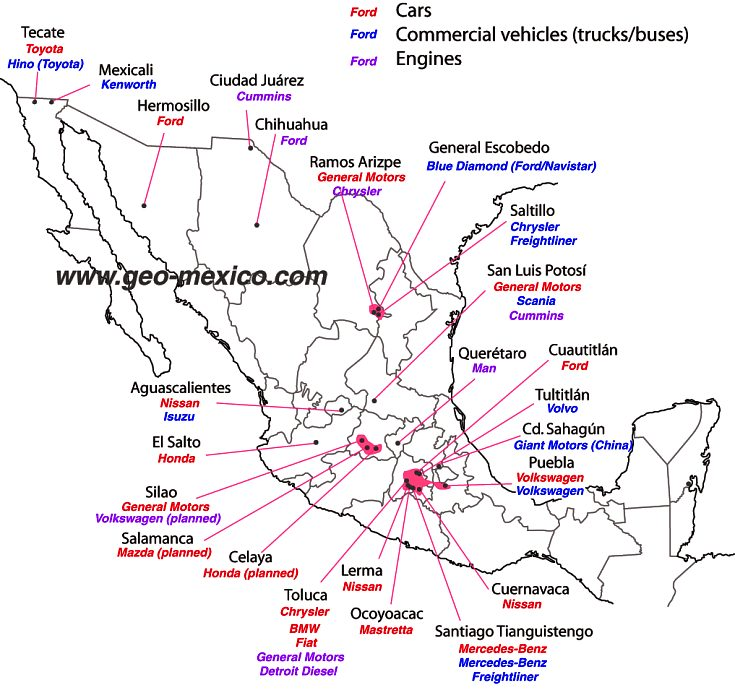 car-plants in Mexico