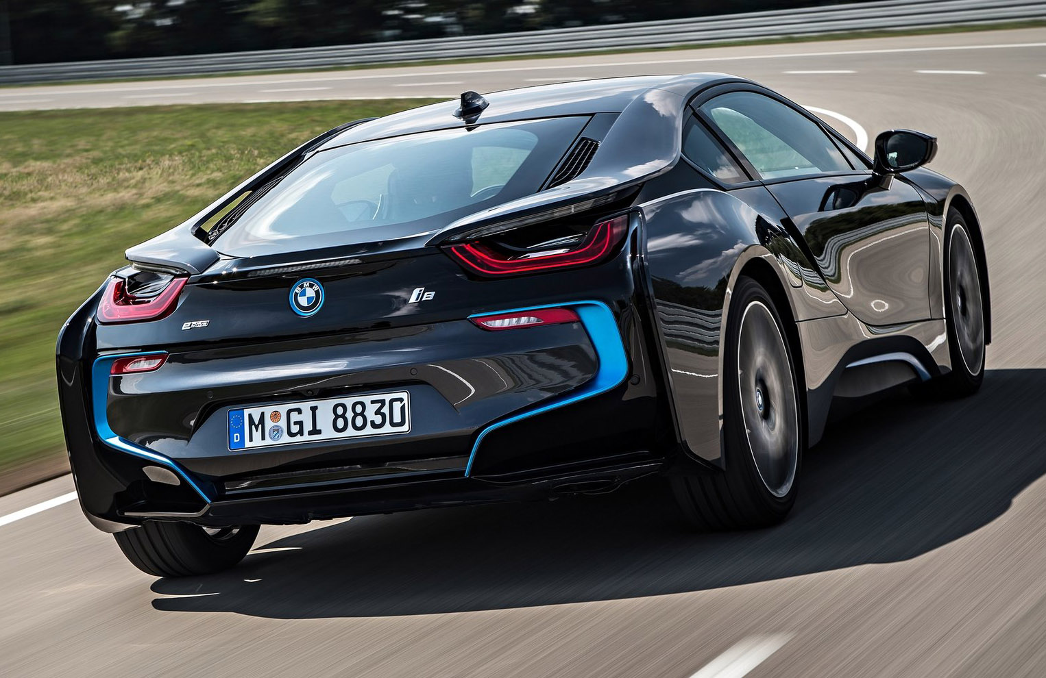 Bmw I8 Rear View On The Track
