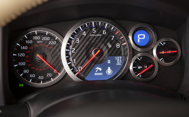 2015 Nissan GT-R Instrument Panel