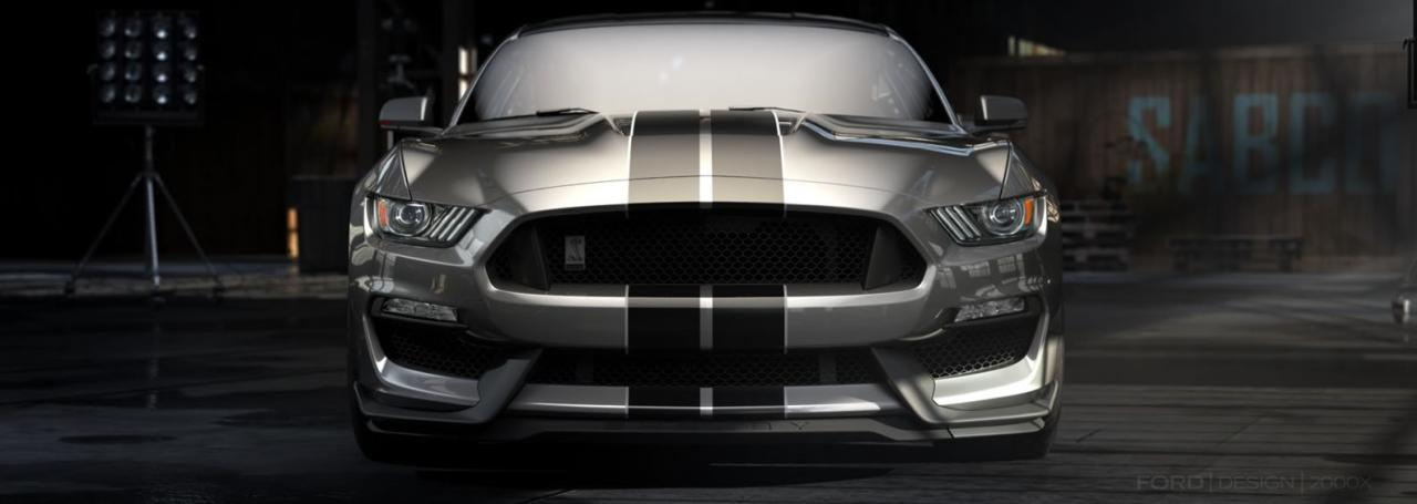 Front 2015 Ford Shelby Mustang GT350