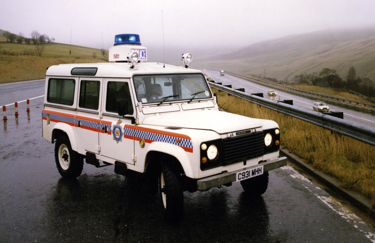 1985 Lander Rover Police Car In The UK
