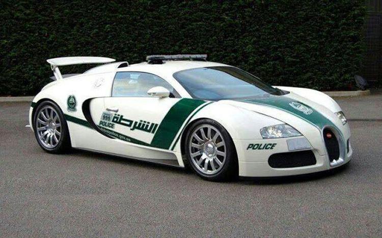 Bugatti Veyron Cop Car in Dubai