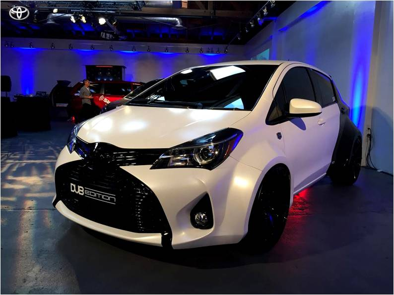 Aggressive Wide-bodied Dub Edition 2015 Toyota Yaris Street Machine 8