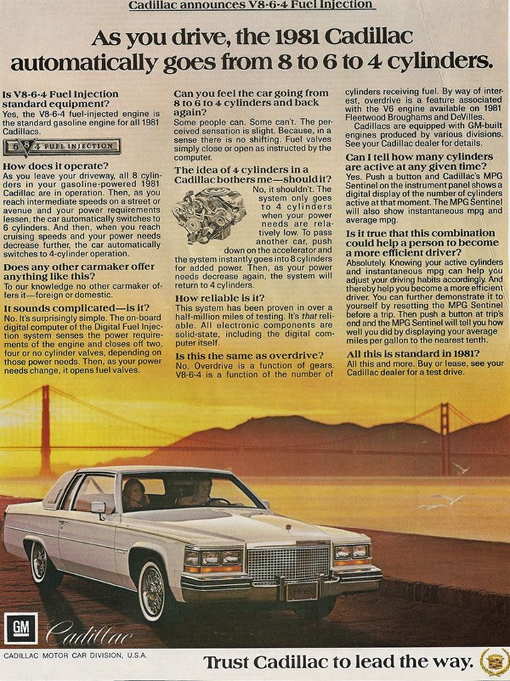 Worst Cars Ever Sold In America - 1981 Cadillac L62 V-8-6-4 Engine