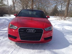 A new grille for the Audi A3 is more diminutive than other Audi vehicles, but this sedan also sheds its hatchback shell for a more mature 4-door option.