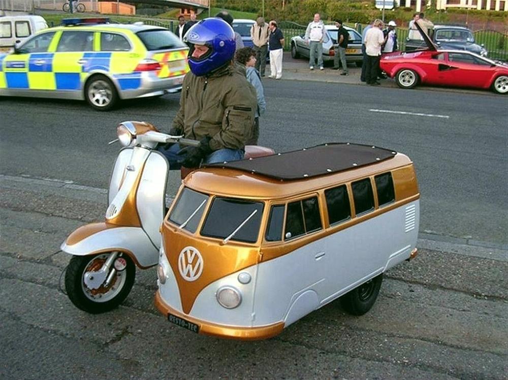 vw bus motorcycle sidecar