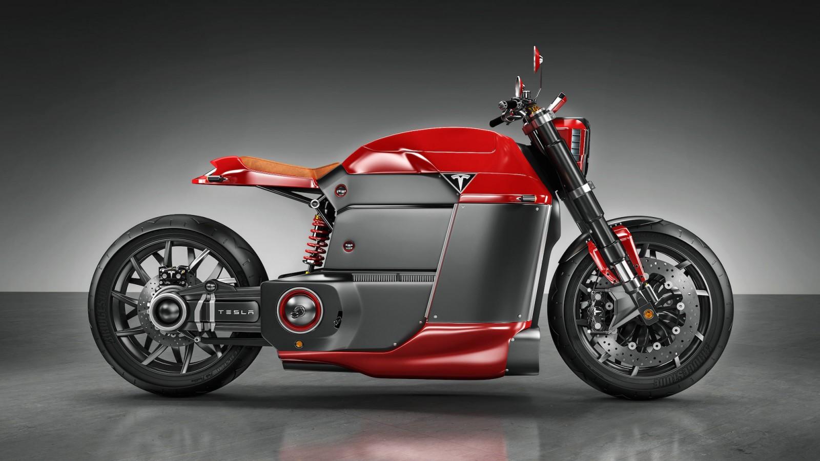 Tesla Motorcycle Concept - Tesla Model M 4