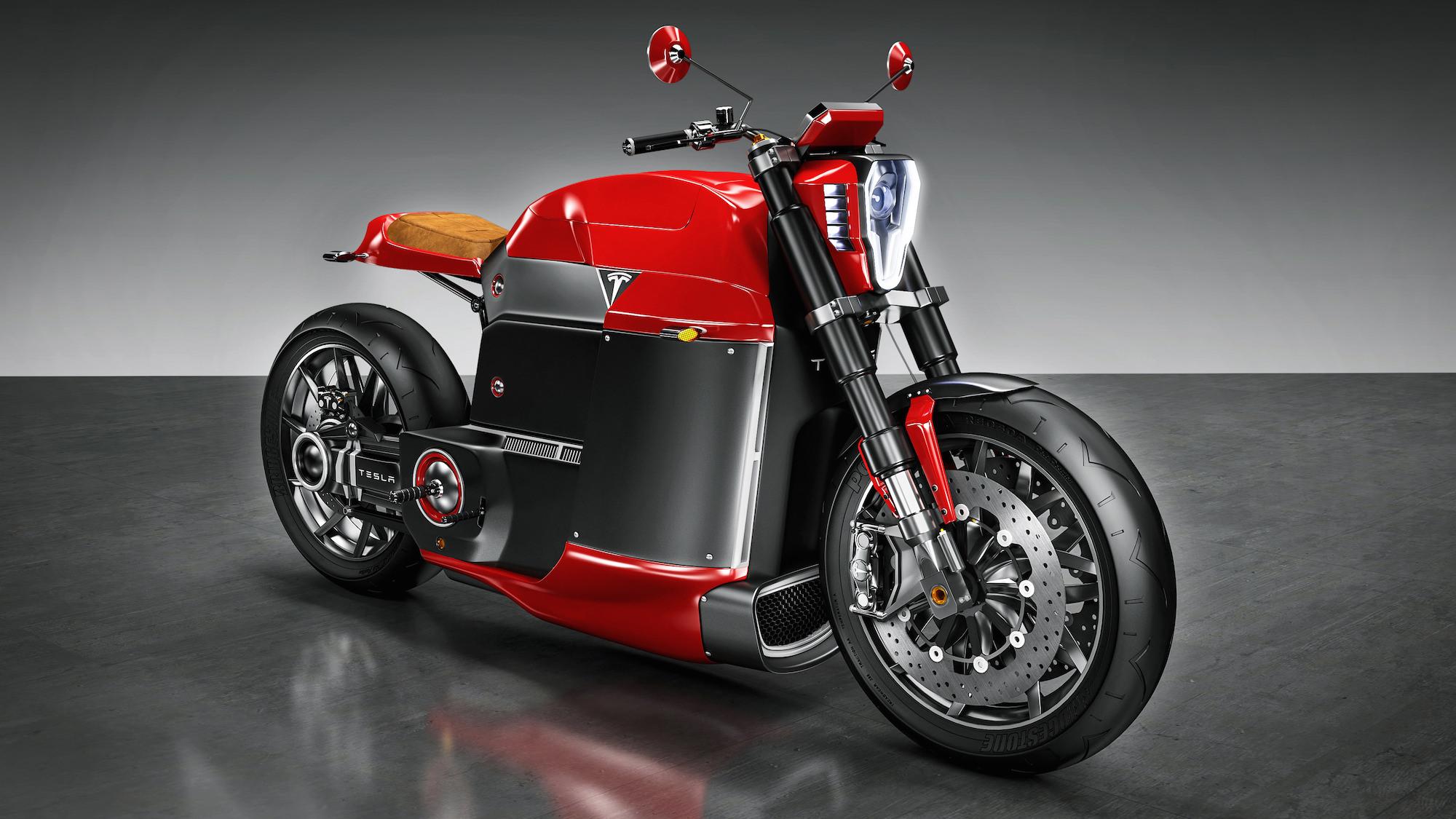 Tesla Motorcycle Concept - Tesla Model M 1
