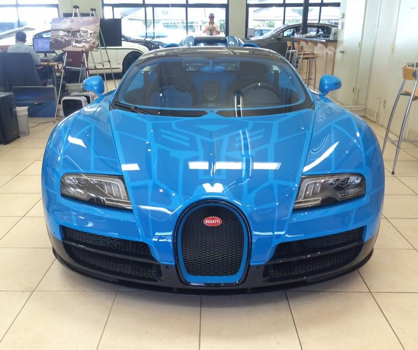 Never Mind Bumblebee Check Out The Bugatti Veyron Vitesse
