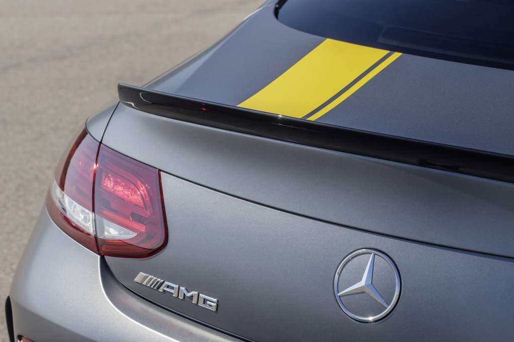 Mercedes C63 Edition 1 AMG Coupe Rear Spoiler
