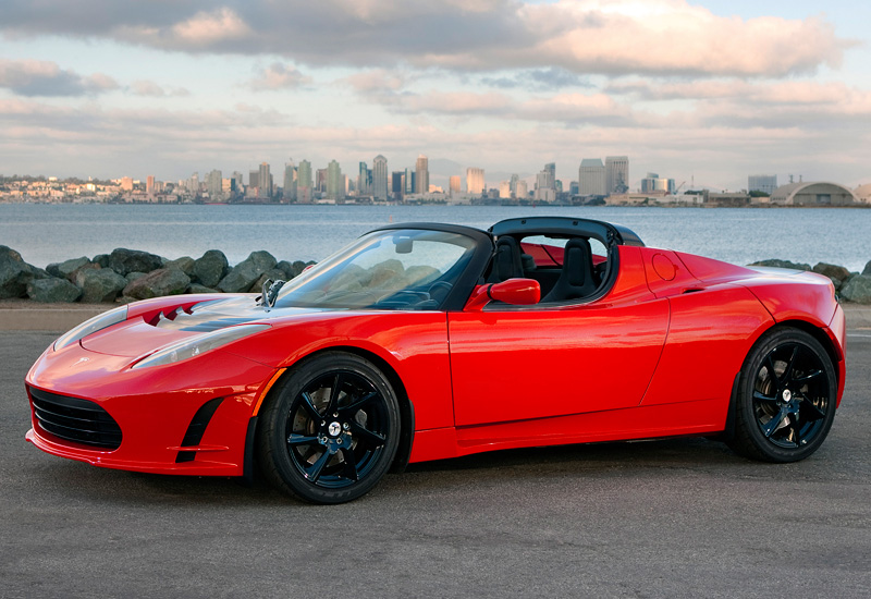 2010 Tesla Roadster Sport; top car design rating and specifications