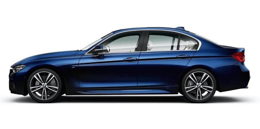 BMW 3 Series Special Edition in Blue, Side View