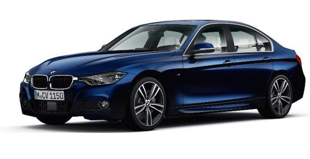 BMW 3 Series Special Edition in Blue, front 3/4