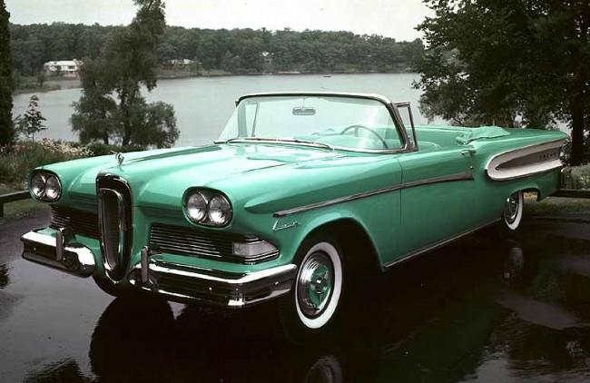 Unusual 50s Cars - Edsel Convert Green