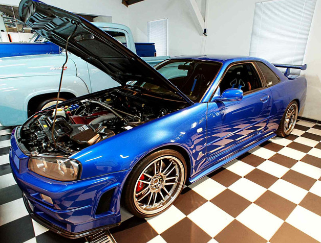 "The engine layout in the Nissan Skyline used in ""The Fast and the Furious 4."""