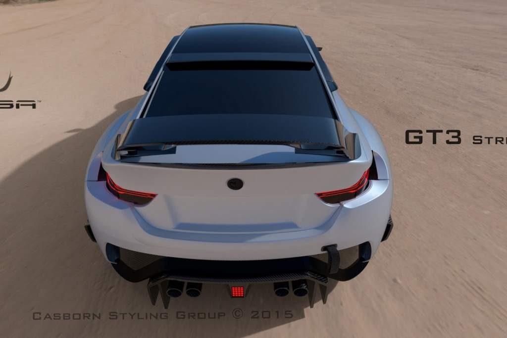 BMW M4 Mamba GT3 Rear End