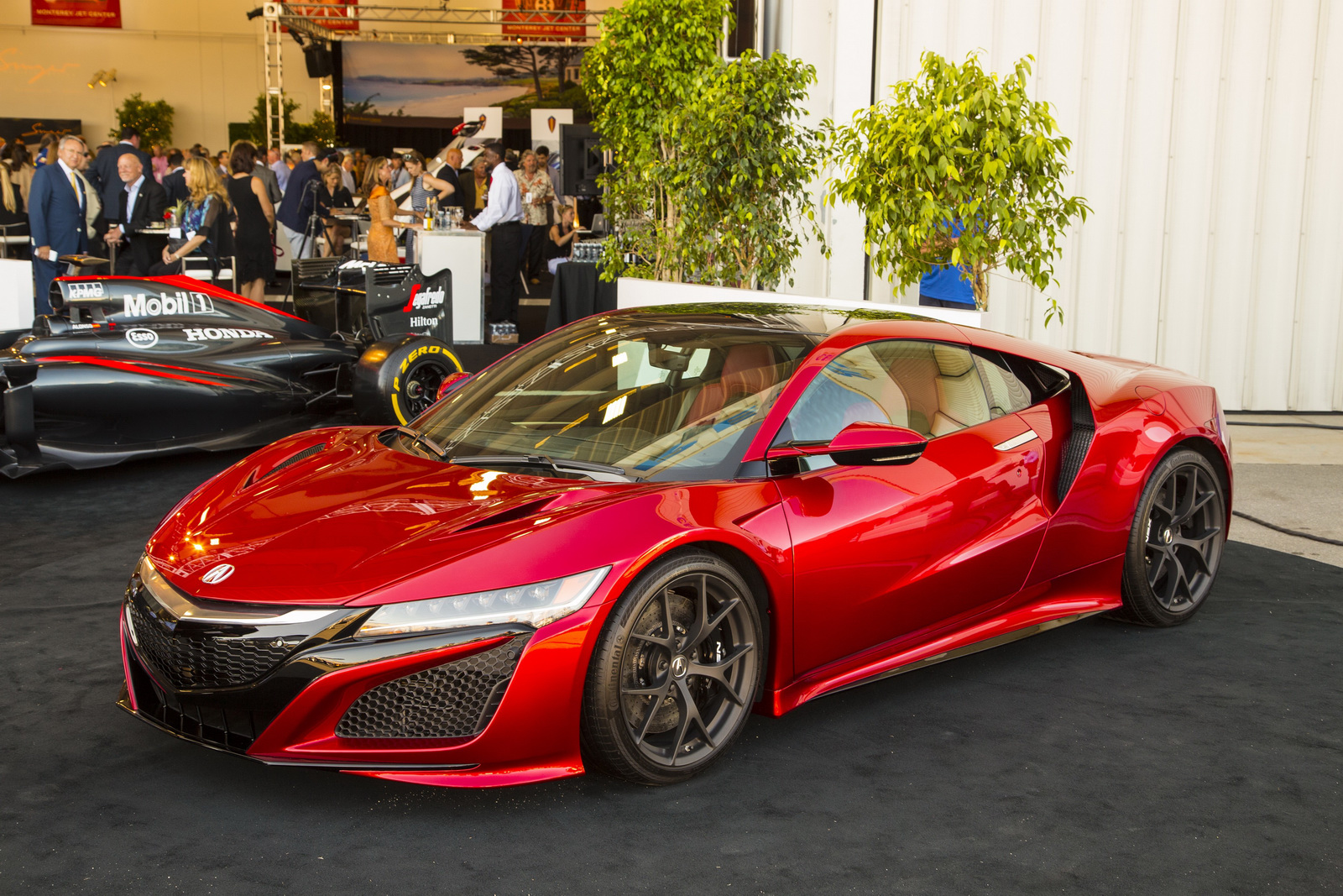 Acura's new NSX is shown at McCall's Motorworks on August 12, 2015 at the Monterey Jet Center in Monterey, Calif.