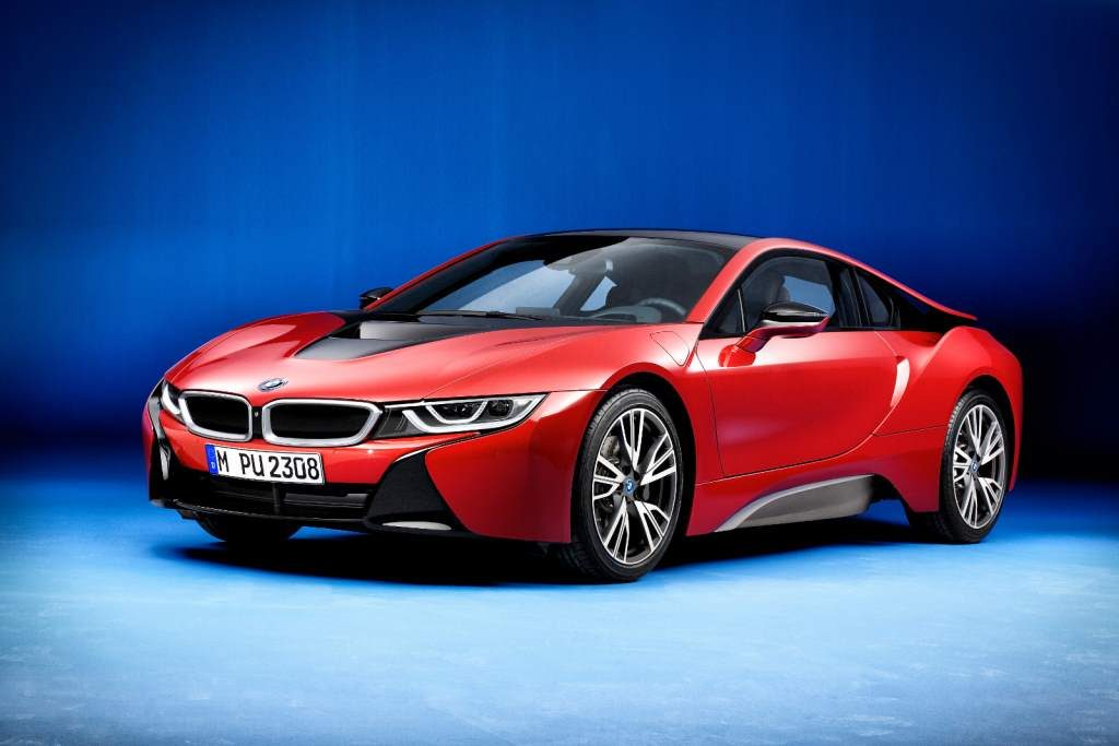 BMW i8 Red Front 3/4