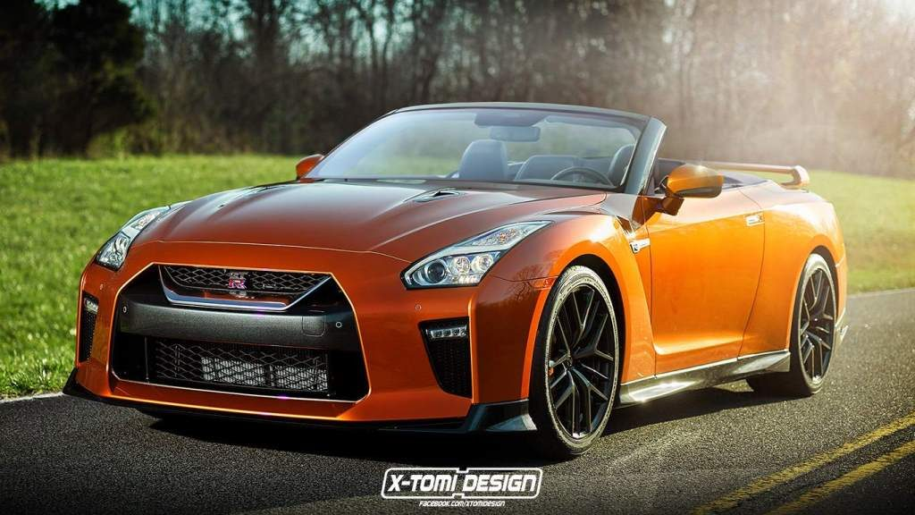Nissan GT-R Convertible Render Front 3/4