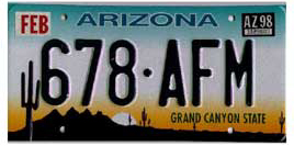 Least Cars Per Capita - Arizona