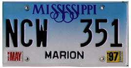 Least Cars Per Capita - Mississippi