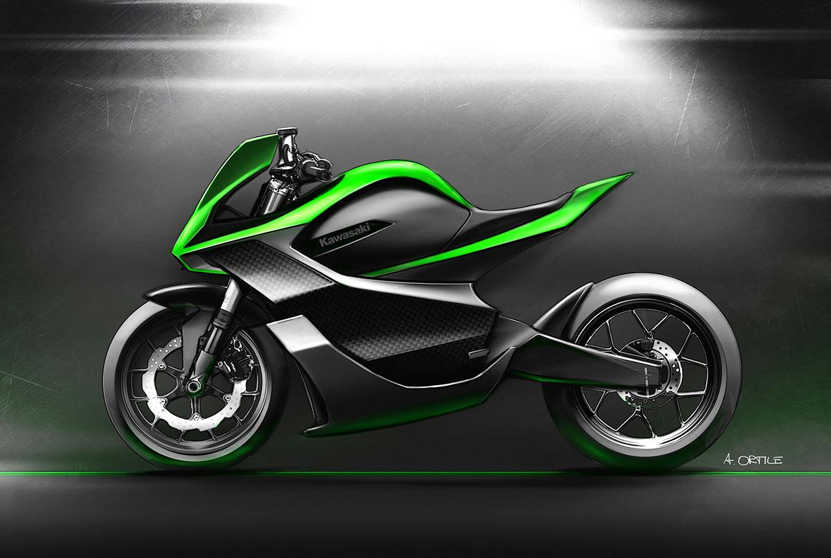 Electric Kawasaki Motorcycle Concept 1