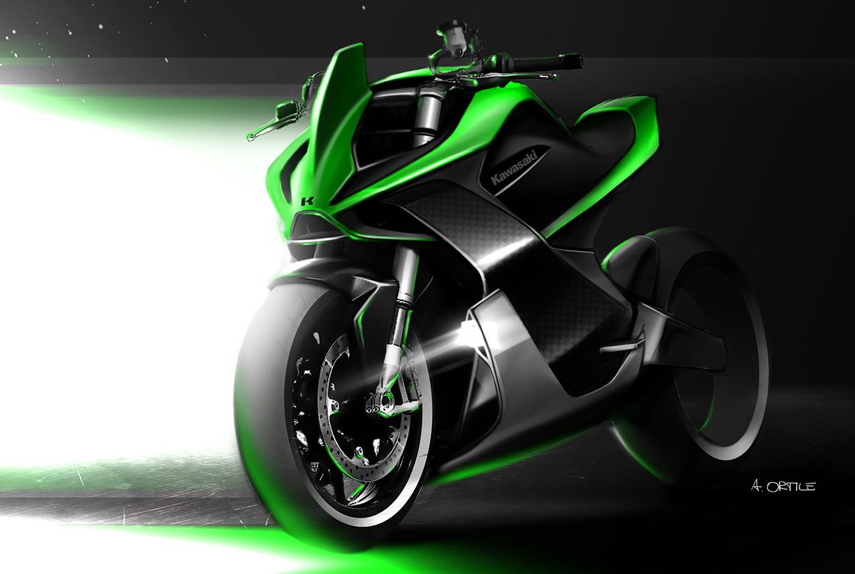 Electric Kawasaki Motorcycle Concept 2