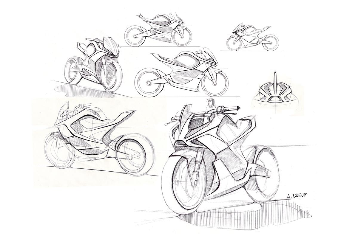 Electric Kawasaki Motorcycle Concept 4