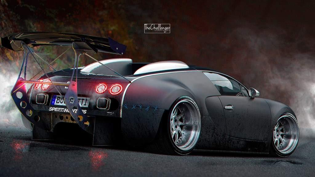 Stanced Bugatti Render Rear 3/4