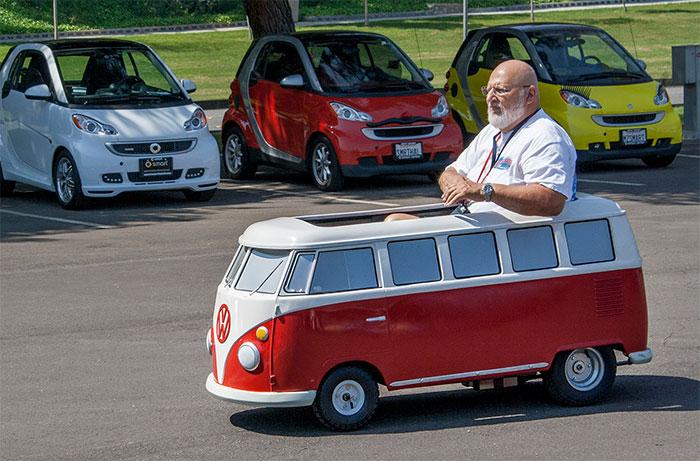 #2. Mini Replica of Volkswagen Bus Van