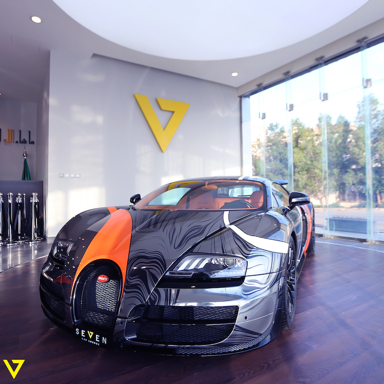A Veyron with Artistic Flair is On Sale in Saudi Arabia (front)