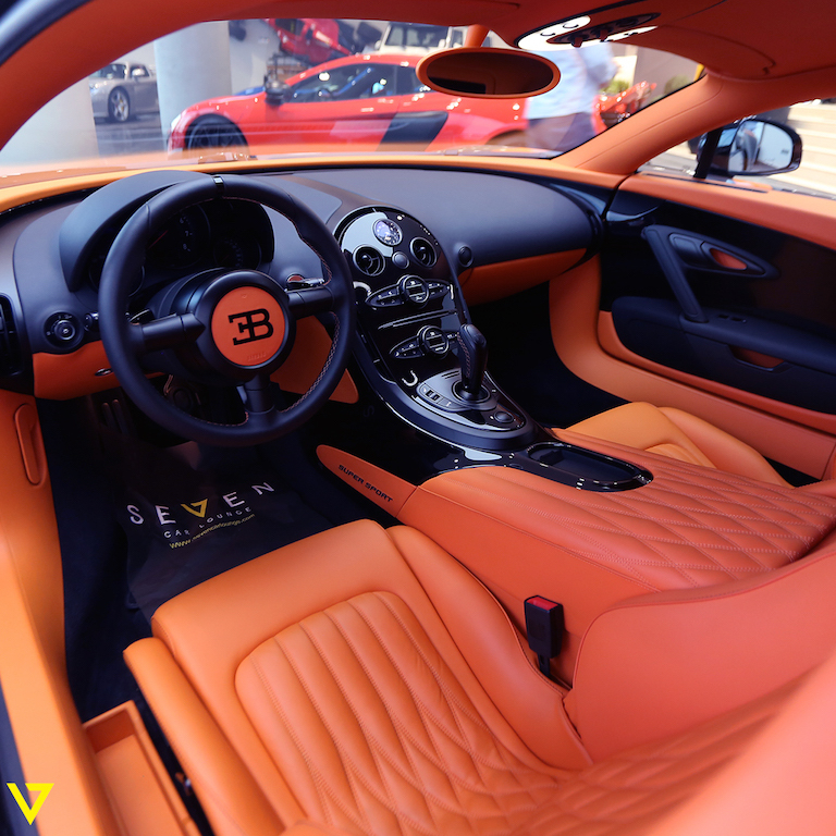 A Veyron with Artistic Flair is On Sale in Saudi Arabia (interior)