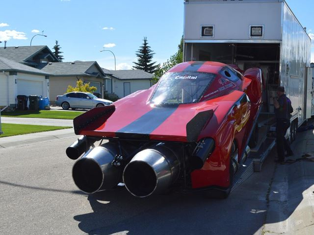 Canada's Only Jet-Propelled Ferrari Enzo - Back