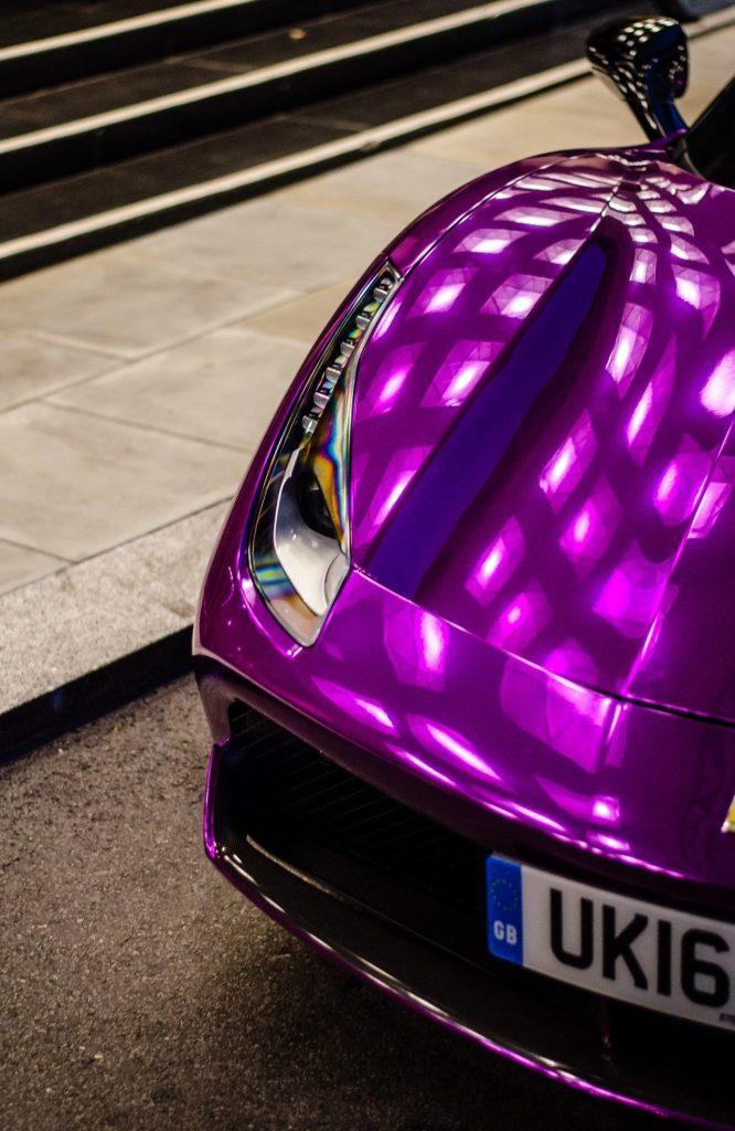 Purple Chrome Ferrari 488 GTB Spotted - Image 02