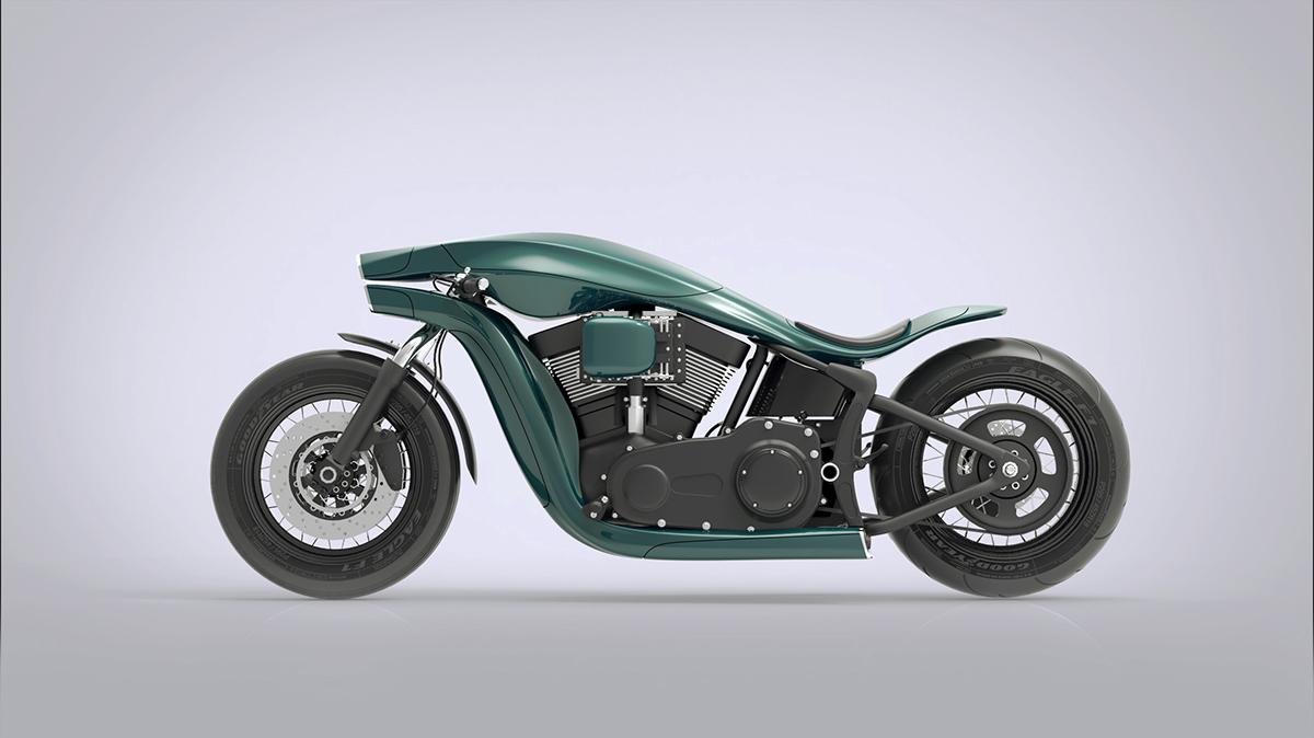 Harley Davidson Softail Concept 1
