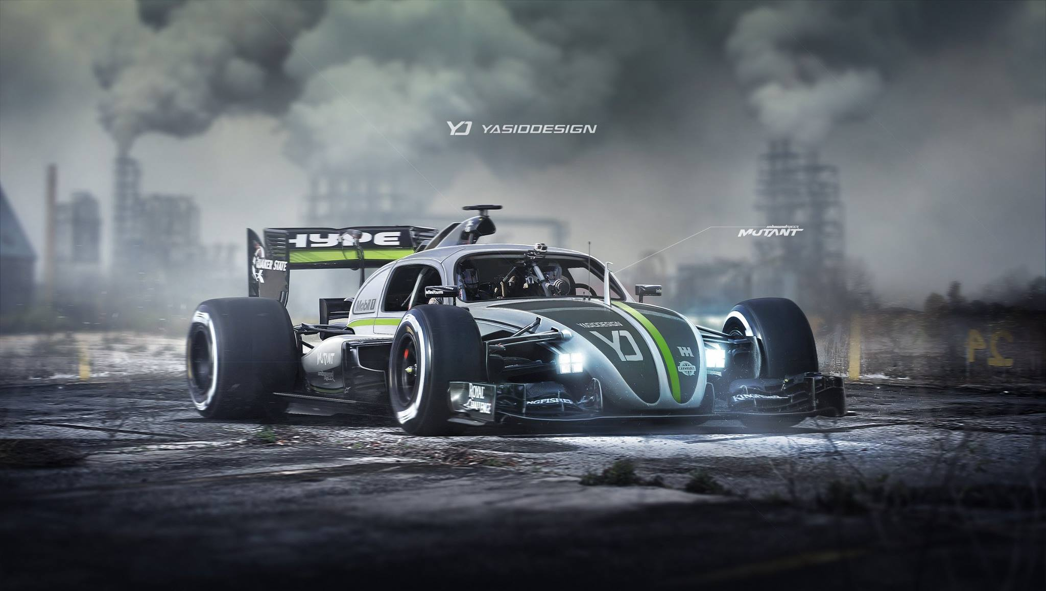 F1-Style Beetle – Could This Rendering Someday Come To Life - Featured