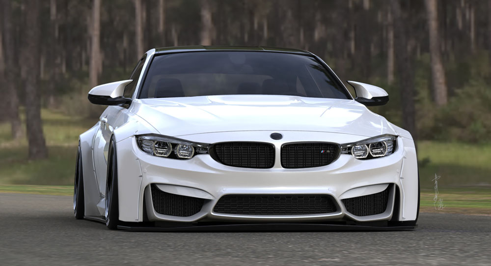 Liberty Walk Body Kit Makes BMW M4 Appear More Aggressive Featured