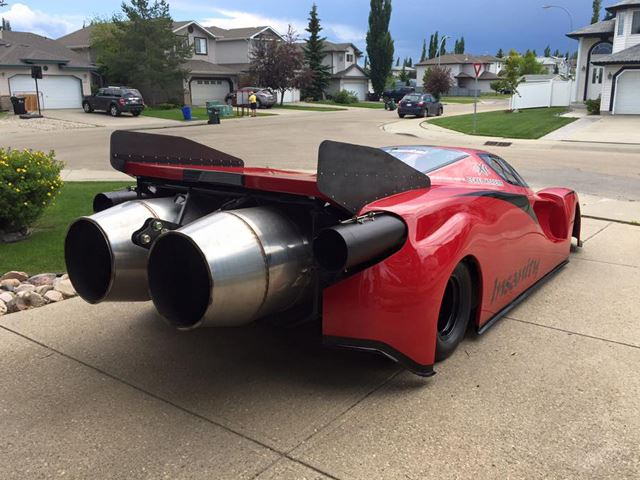 Meet Insanity – Canada's Only Jet-Propelled Ferrari Enzo Featured