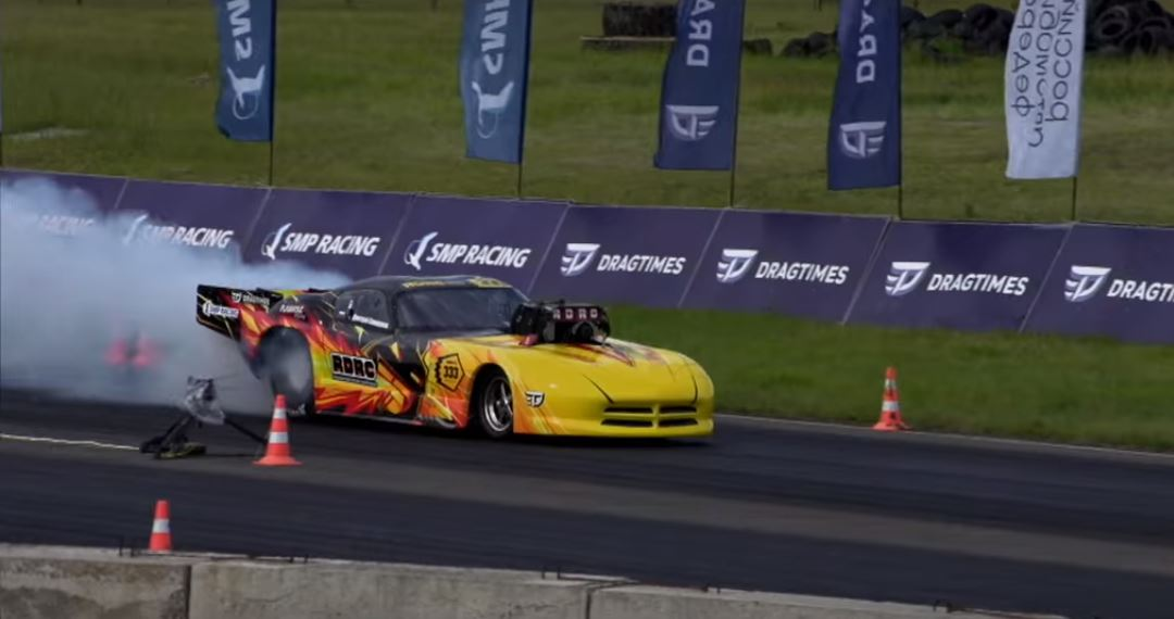 This Seriously Awesome Pro Mod Dodge Viper Is Burning Up Russian Dragstrips