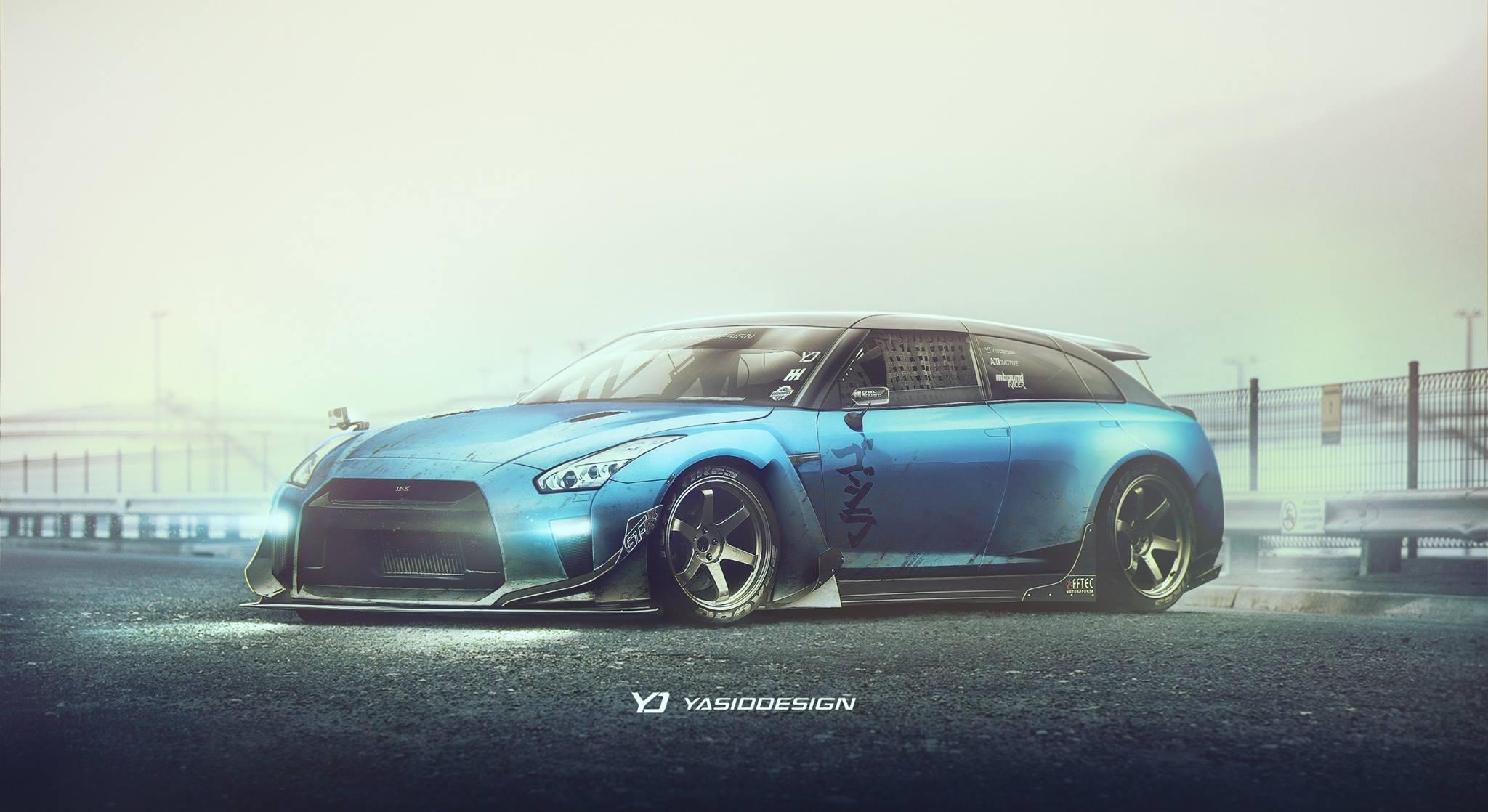 Yasid Design's Vision of a Nissan R35 GT-R Wagon
