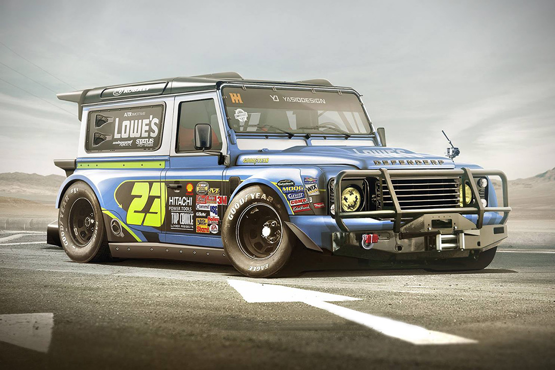Yasid Design Blows Our Minds with a Rendering of NASCAR Land Rover Discovery