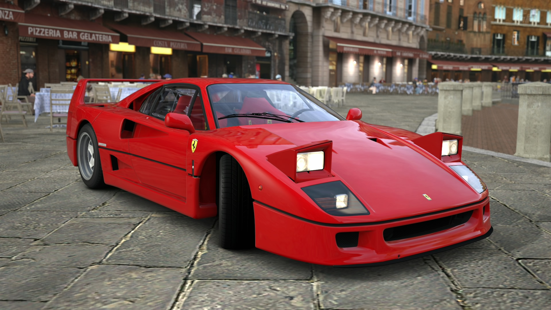 Cars With Pop Up Lights - Ferrari F40