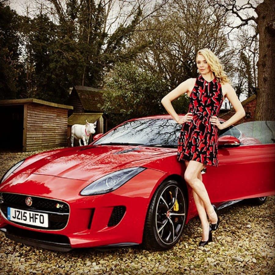 Jodie Kidd's Jaguar F-Type