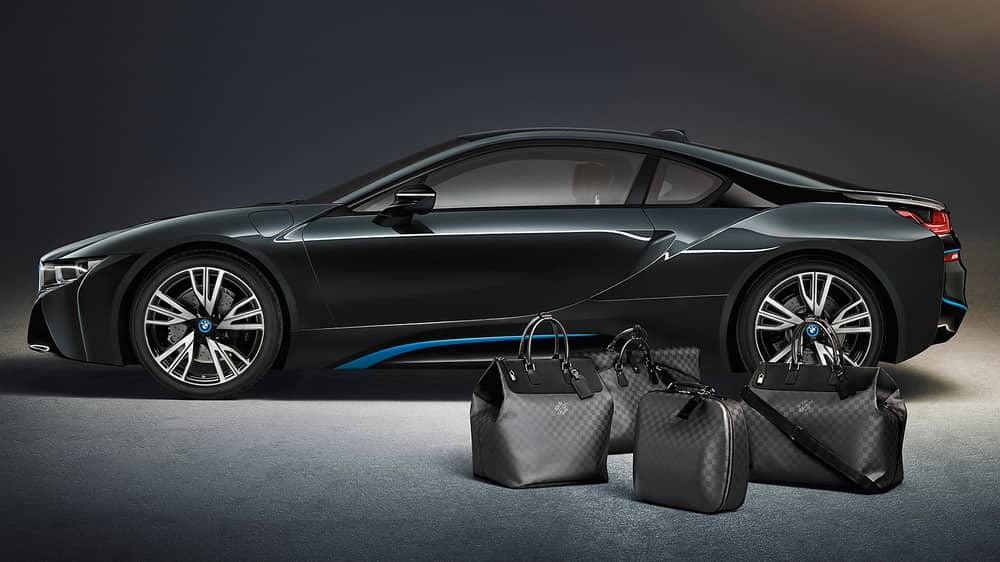 BMW i8 Custom Louis Vuitton Luggage Set