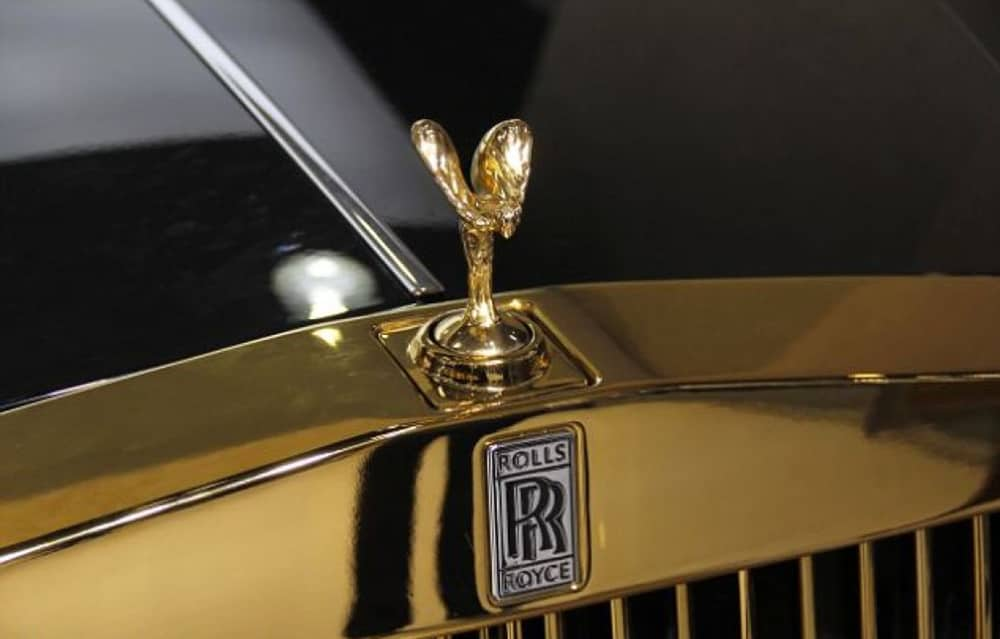 Gold Plated Spirit of Ecstasy - Cost: $10,000